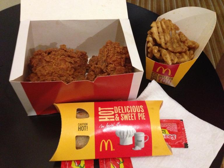 An Ayam Goreng meal from McDonald's in Bukit Bintang