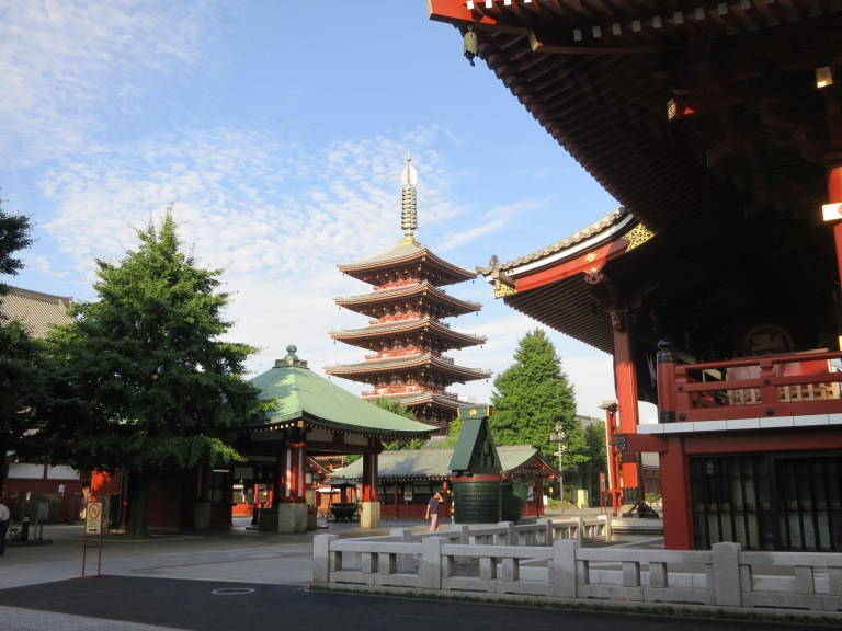 The Five Storied Pagoda within the Sensoji Temple