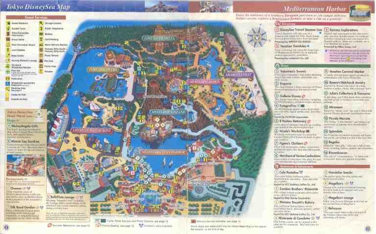 Tokyo DisneySea Park Map
