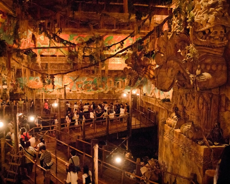 This is the highly-detailed queue for the Indiana Jones ride