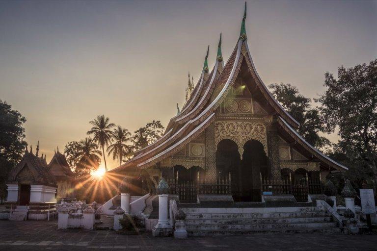 Wat Xieng Thong at sunset