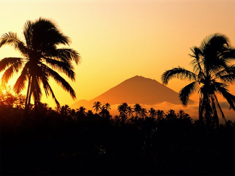 Mount Agung at sunrise