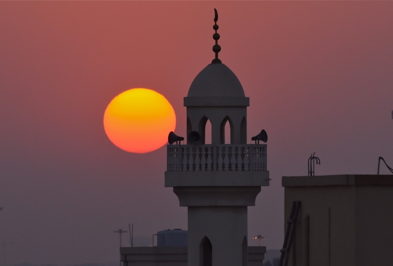 The sun set on my time in Qatar
