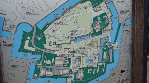 Map of the Palace grounds (courtesy of Japanese Fellowship)