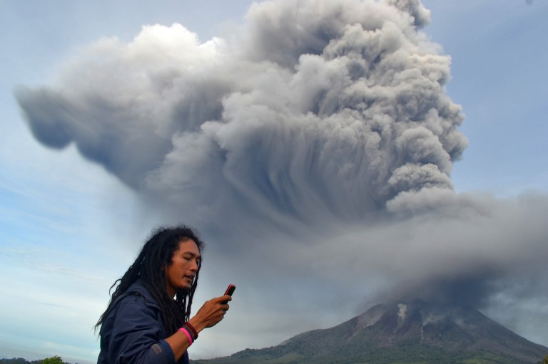 Mount Sinabung eruption