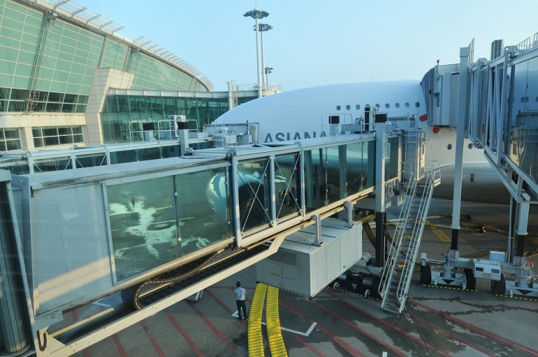 Two separate airbridges are required for the A380 - one for each deck!