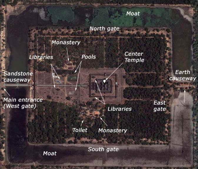 Map of Angkor Wat