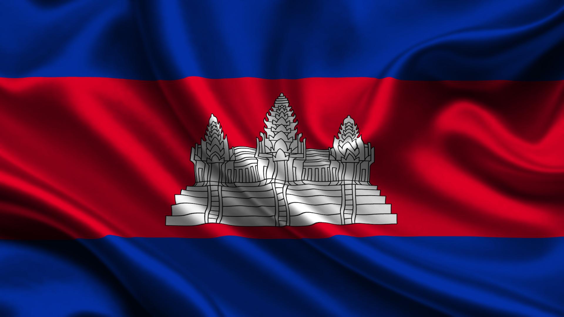 China Cambodia Flag
