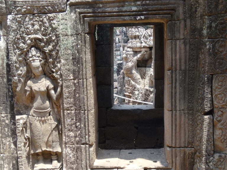 Intricate carvings on display
