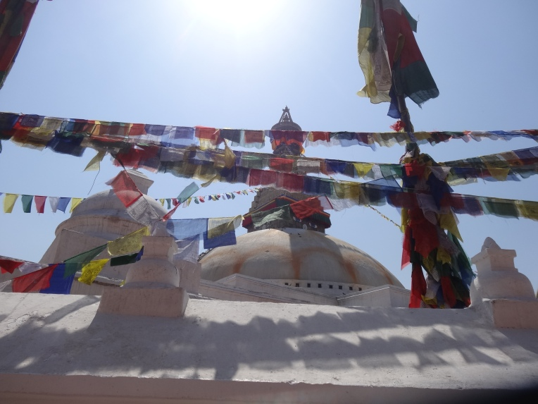 Prayer flags at the Boudnath Stupa