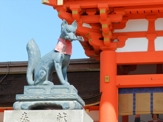So many Kitsune (Fox) statues scattered around the place