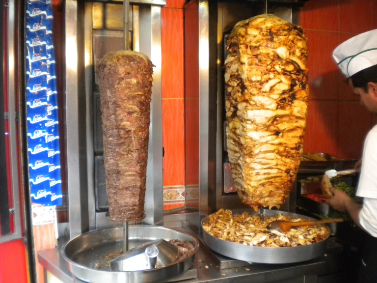 Shawarma at the Grand Bazaar in Istanbul