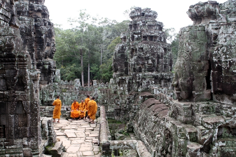 Be respectful of Monks at work (or at play - like these ones at Bayon Temple, Cambodia)