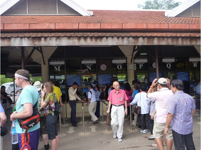 The ticketing booth to obtain your Angkor Pass