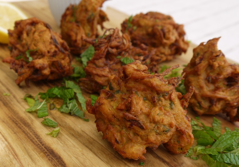 Herbs and spices are regularly used to season Onion Bhajis, as Indians like their food spicy!