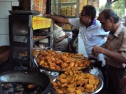 Bhajis are popular street food snacks in India