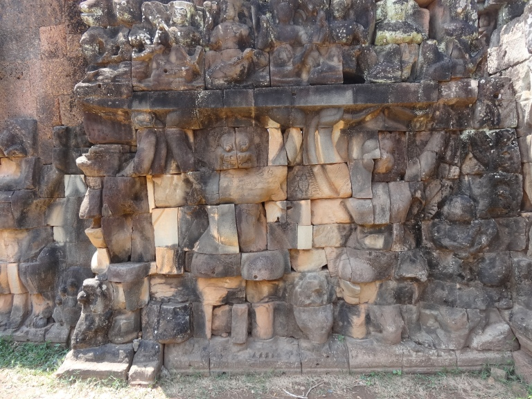 Carvings on The Terrace of the Leper King