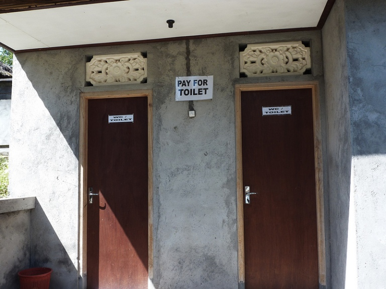 And they even charge for toilets!