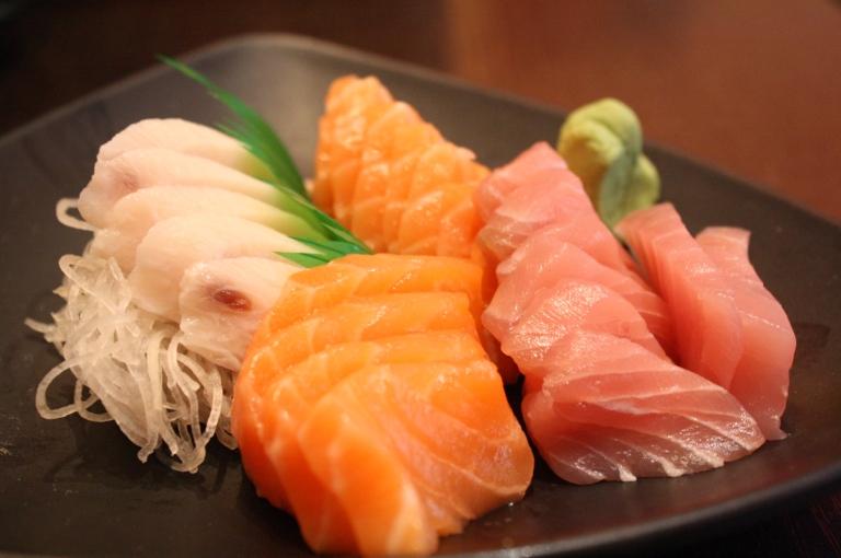 Sashimi is raw fish/meat
