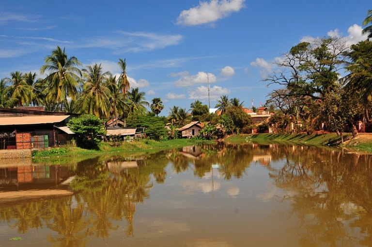 The nearby Siem Reap River