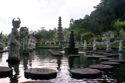 The famous 11-tier fountain of Tirta Gangga