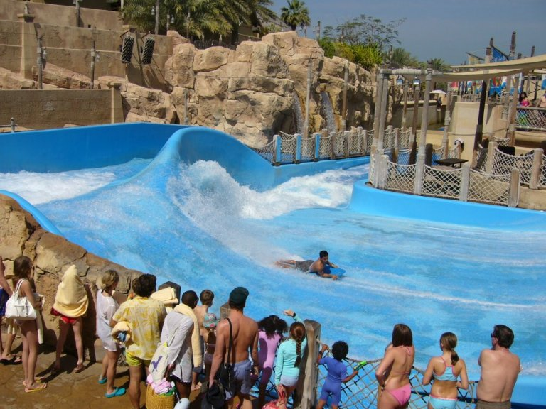 The Flowrider is always good for a laugh!