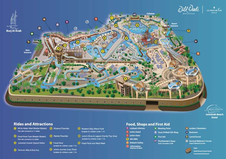 Official Wild Wadi 2015 Map (click to enlarge)