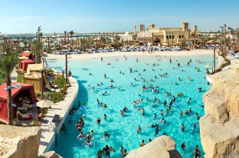 Family Fun in Amwaj (Wave Pool) at Yas Waterworld