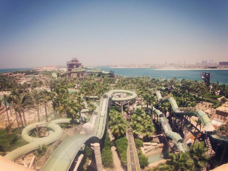 Atlantis water park on the Palm