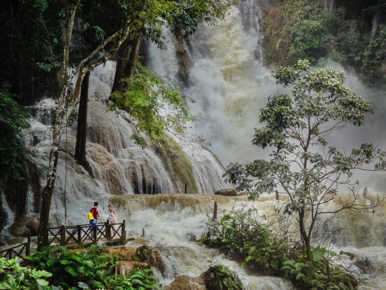 Kuang Si Falls in wet season (photo: Lonely Planet)