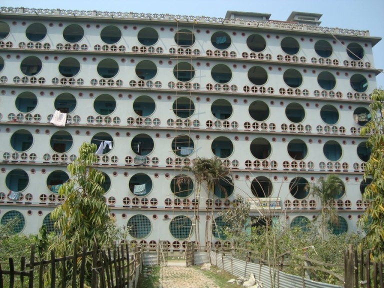 One of the more, ahem, modern hostels in Bangladesh