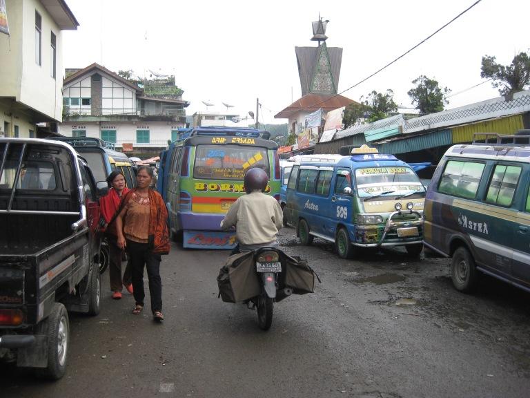 Streets in Berastagi