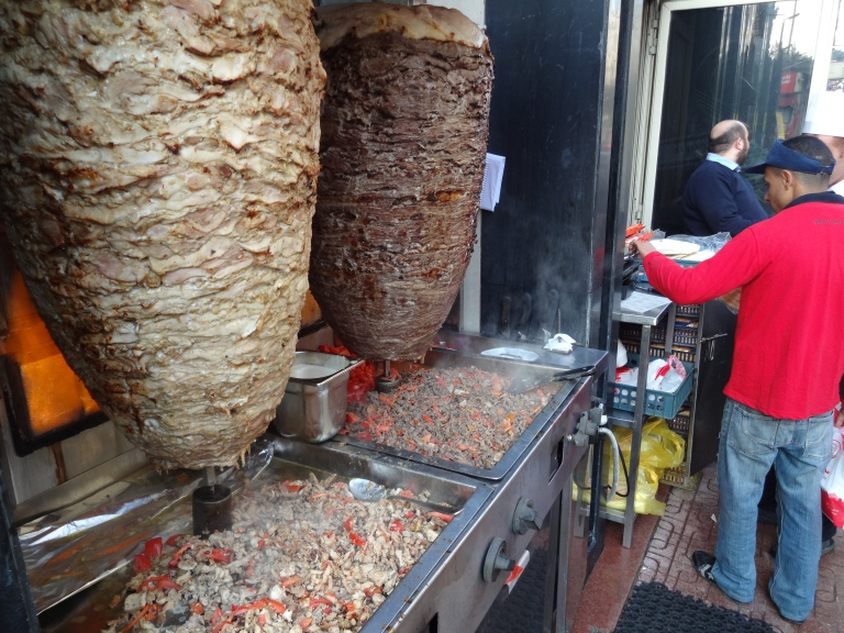 Egyptian Shawarma - fresh meat off the bone!