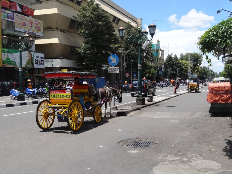 Horse-drawn carts on Jalan Malioboro