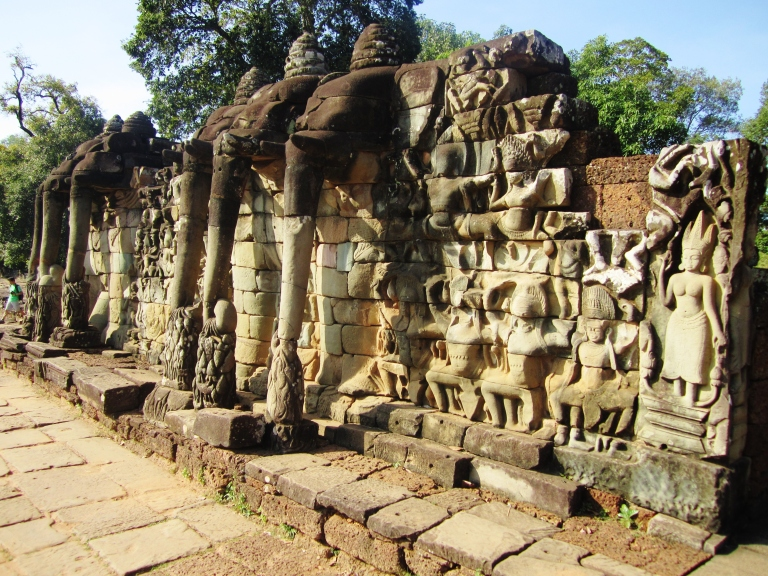 The Terrace of the Elephants at Angkor Thom