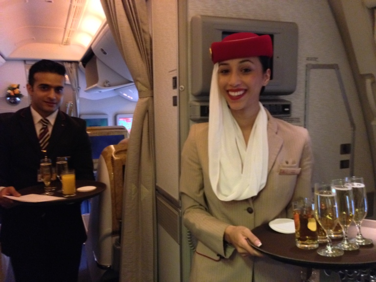 Smiles onboard with Emirates