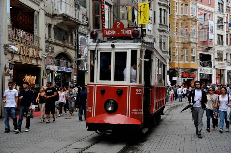 Tram rides are popular from Taksim Square