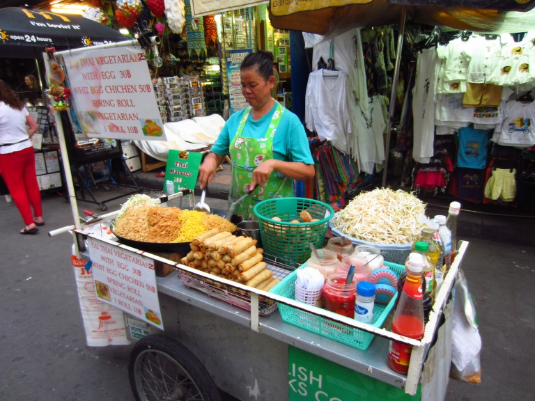 Pad Thai for sale on Khao San Road