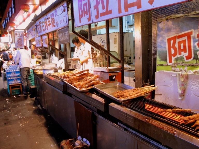 Roadside vendors in Beijing