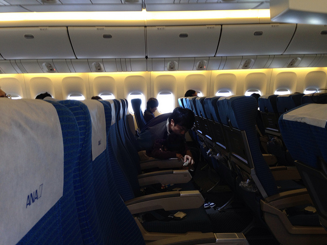 9 seats to a row in ANA's Economy class