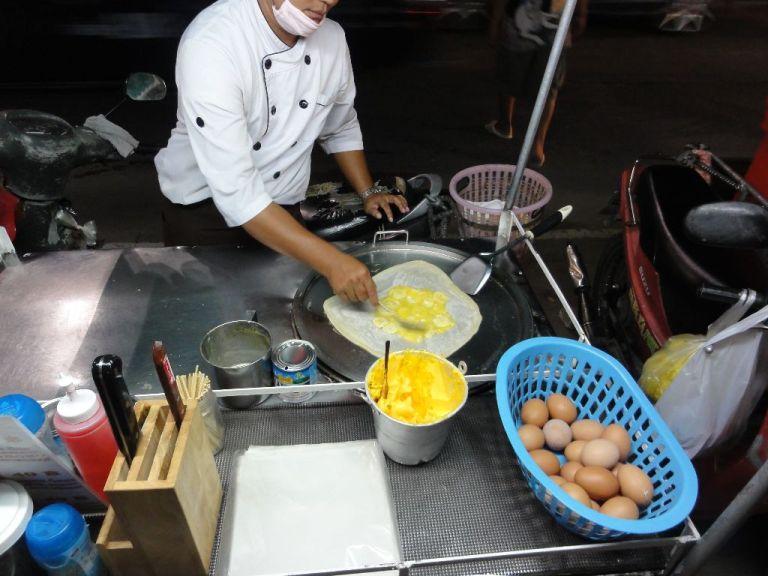 Making my Banana Roti to order