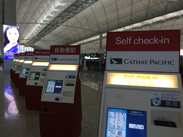 Cathay Pacific pioneered the self-service check in