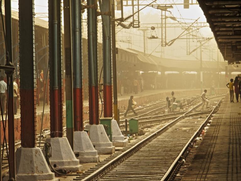 Inside New Delhi Railway Station