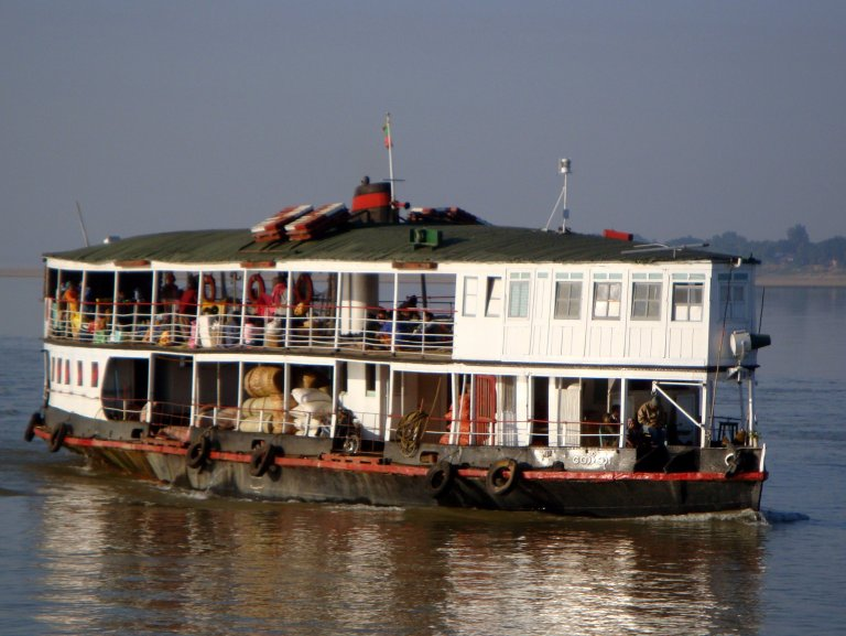 A slow boat down the Irrawaddy.