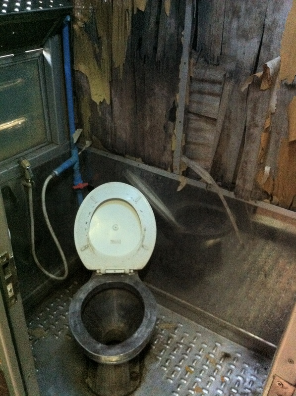 Second class toilet on the train. This is why we have so many vaccinations before we come travelling. (Photo: Turnipseedtravel)