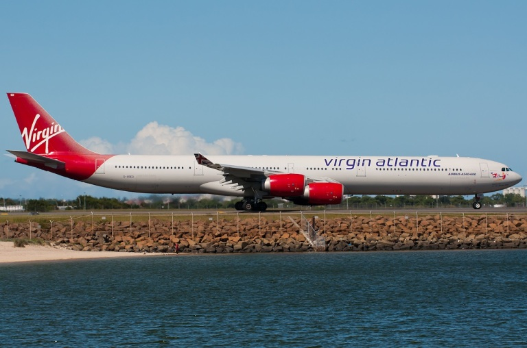 A340 taxiing at Sydney