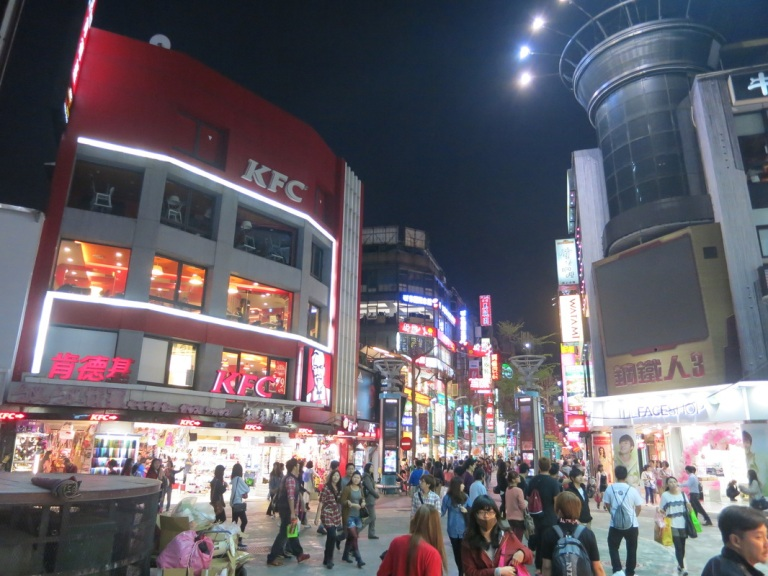 Ximending is a different place after dark...