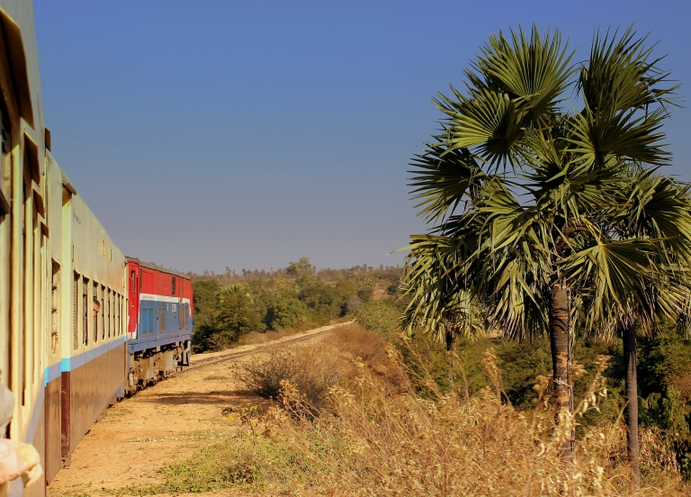 The train from Yangon to Bagan