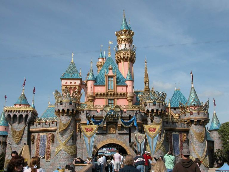The centrepiece of the park is a replica of the Disneyland park in Anaheim