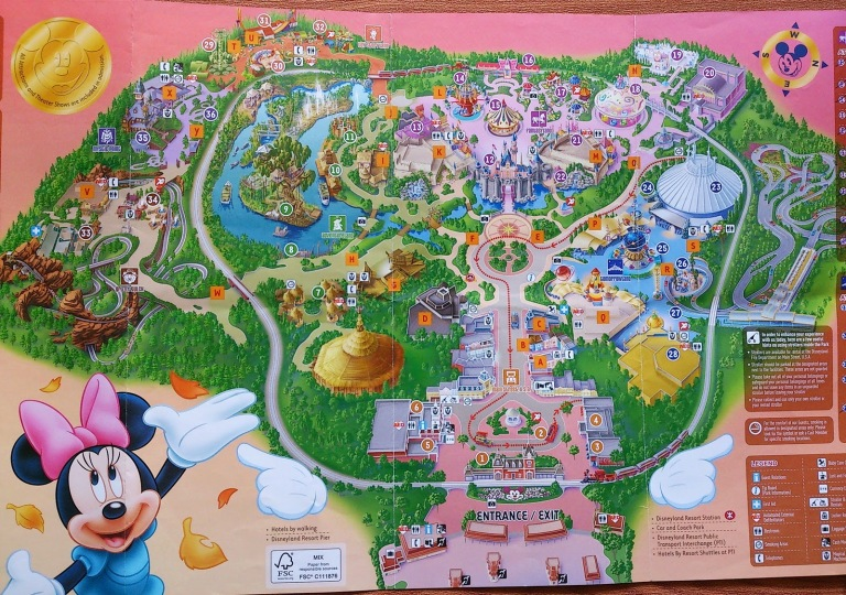 Hong Kong Disneyland 2014 Map (click for larger image)